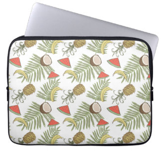 Tropical Fruit Sketch Pattern Laptop Sleeve