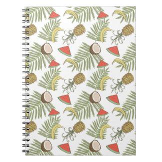 Tropical Fruit Sketch Pattern Notebook