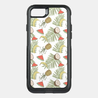 Tropical Fruit Sketch Pattern OtterBox Commuter iPhone 8/7 Case