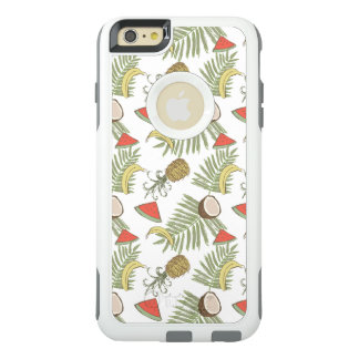 Tropical Fruit Sketch Pattern OtterBox iPhone 6/6s Plus Case