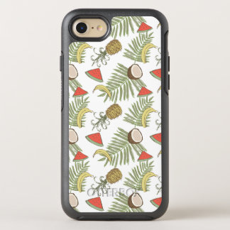 Tropical Fruit Sketch Pattern OtterBox Symmetry iPhone 8/7 Case