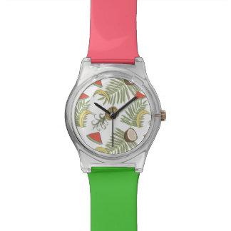 Tropical Fruit Sketch Pattern Watch