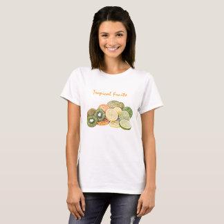 Tropical Fruits Basic Tee Shirt Woman