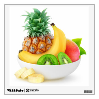 Tropical fruits in a bowl wall sticker