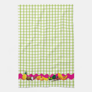 Tropical fruits kitchen towel