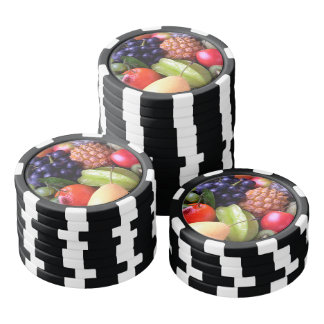 Tropical Fruits Poker Chips