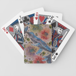 Tropical fun bicycle playing cards