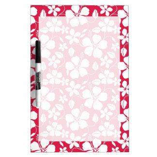 Tropical Fuschia Floral Pattern Dry Erase Board