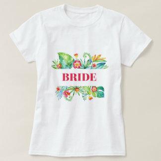 Tropical Garden | Bride Watercolor T-Shirt