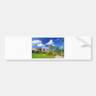 Tropical garden bumper sticker