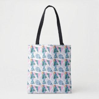 Tropical Geometric Pattern Tote Bag