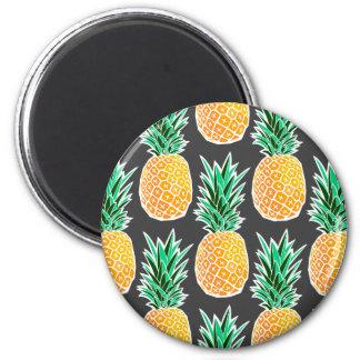 Tropical Geometric Pineapple Pattern Magnet