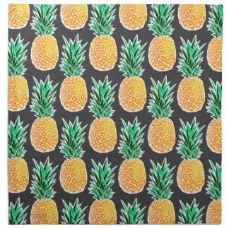 Tropical Geometric Pineapple Pattern Napkin