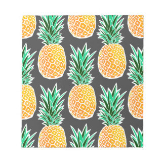 Tropical Geometric Pineapple Pattern Notepad