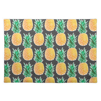 Tropical Geometric Pineapple Pattern Placemat