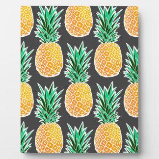 Tropical Geometric Pineapple Pattern Plaque