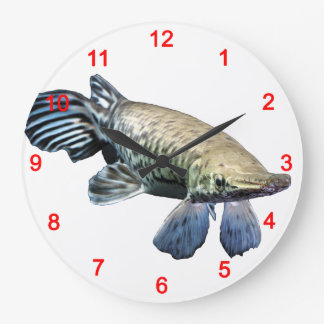 Tropical Giant Gar Large Clock