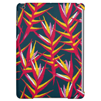 Tropical ginger printed embroidery case for iPad air
