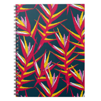 Tropical ginger printed embroidery notebooks