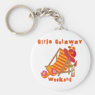 Tropical Girls Getaway Weekend Keychain