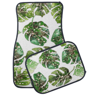 Tropical Glam Palm Leaves Glamour Chic Car Mat