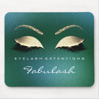 Tropical Gold Glitter Branding Beauty Lashes Cali Mouse Pad