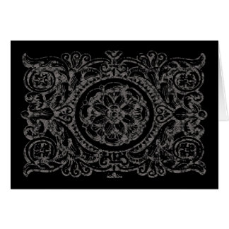 Tropical Gothic Black Lace for Birthday Card