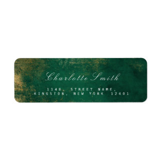Tropical Green Gold Return Address Labels