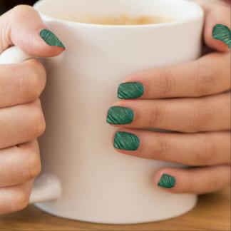 Tropical Green Greenery Emerald Green Monstera Minx Nail Art