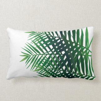 Tropical Green Island Ferns Lumbar Pillow