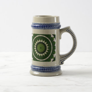Tropical Green Mandala Beer Stein