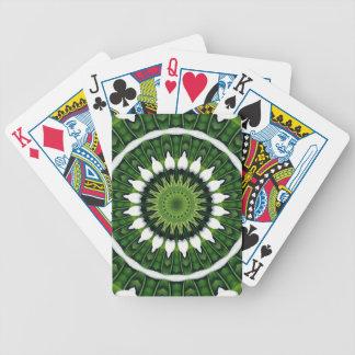 Tropical Green Mandala Bicycle Playing Cards