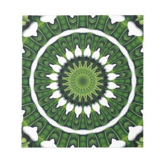 Tropical Green Mandala Notepad