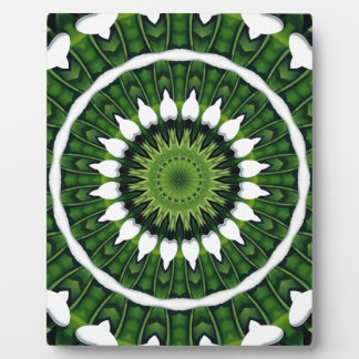 Tropical Green Mandala Plaque