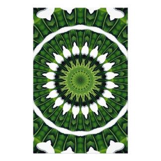 Tropical Green Mandala Stationery