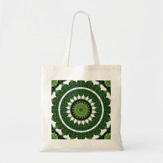 Tropical Green Mandala Tote Bag