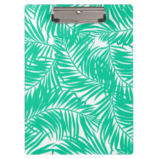 Tropical green palm leaves clipboard