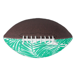 Tropical green palm leaves football