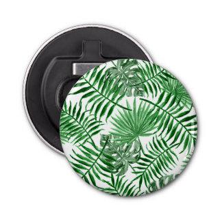 Tropical Green Palm Leaves Summer Pattern Bottle Opener