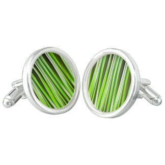Tropical Green Riverweed Cufflinks