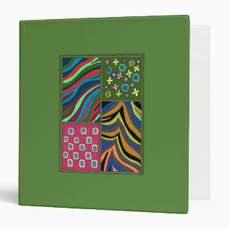 Tropical Green Tapestry Bold Colorful Binder