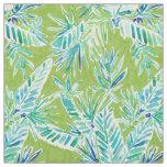 TROPICAL GREENERY Green Palm Banana Leaf Jungle Fabric