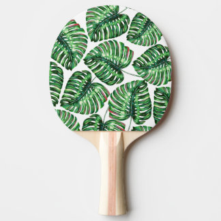 Tropical Greenery Ping Pong Paddle