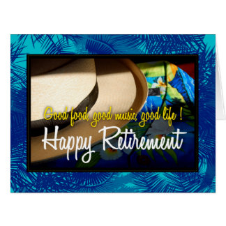 Tropical Happy Retirement in Blue XL Card