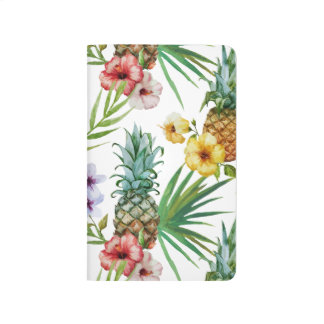 Tropical hawaii theme watercolor pineapple pattern journal