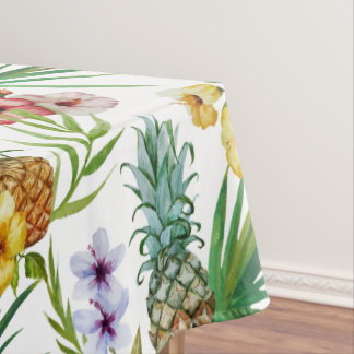 Tropical hawaii theme watercolor pineapple pattern tablecloth