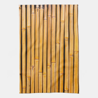 Tropical Hawaiian Bamboo Background Template Kitchen Towel
