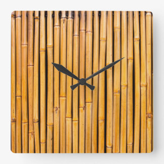 Tropical Hawaiian Bamboo Background Template Square Wall Clock