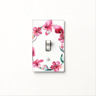 Tropical Hawaiian Flowers Elegant Hibiscus Chic Light Switch Cover