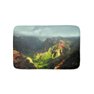 Tropical Hawaiian Fogy Mountains Bath Mat